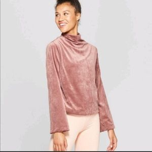 Joy Lab Cropped Velour Pullover